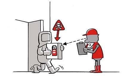 Cartoon Asbest
