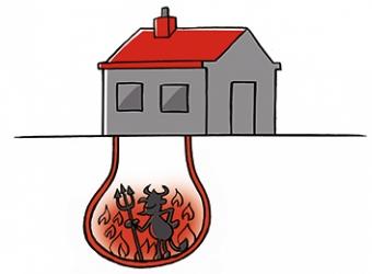 Cartoon Geothermie